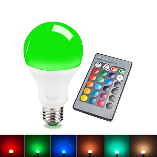 Sdida 15W Equivalent E27 LED RGB 16 Color Changing Dimmable Bulb with Remote Control (Color Led Light Blubs compare prices)