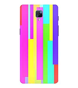Multicolour Pattern 3D Hard Polycarbonate Designer Back Case Cover for OnePlus 3 :: OnePlus Three