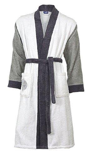 Frottee Herren-Bademantel Kimonoform TOKYO von VAL DE VILLE, 480 g/m², Größe:S
