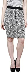 Westwood Women's Cotton Skirt (SKT004BLACK_M_M, Black, M)