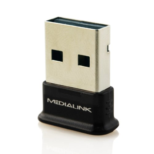 Medialink - USB Bluetooth Adapter - Windows 7 Compatible (Newest Version Available - Bluetooth Version 3.0+HS Class 2)