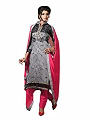 pakiza design new grey pink festival party wear salwar suit dress material