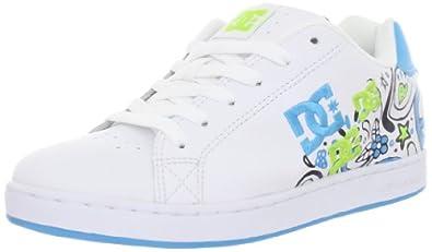 DC Women's Pixie Doodle Sneaker,White/Black/Turquoise,11 M US