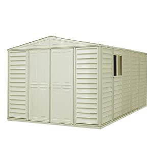Click to buy DuraMax 10x13 WoodBridge Vinyl Storage Shed from Amazon!