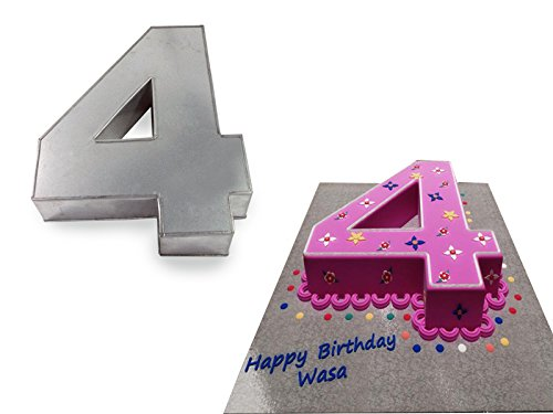 Large Number Four 4 Wedding Birthday Anniversary Cake Baking Tin 14