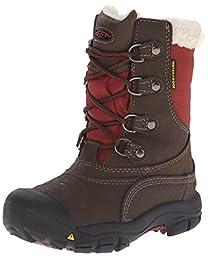 KEEN Basin WP Winter Boot (Toddler/Little Kid), Cascade Brown/Madder Brown, 13 M US Little Kid