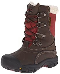 KEEN Basin WP Winter Boot (Toddler/Little Kid), Cascade Brown/Madder Brown, 8 M US Toddler