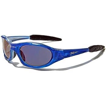 X-Loop Lunettes de Soleil - Sport - Cyclisme - Ski - Conduite - Moto - Plage / Mod. 2044 Bleu Translucide / Taille Unique Adulte / Protection 100% UV400