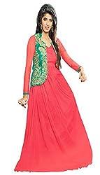 Parinaaz Pink soft net fabric Unsticht Dressmaterial