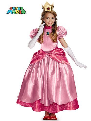 Disguise Nintendo Super Mario Brothers Princess Peach Prestige Girls Costume