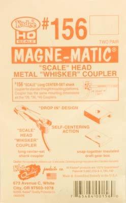 HO Scale Whisker Coupler, 25/64