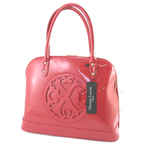 Borsa 'french touch' 'Christian Lacroix'vernice rossa.