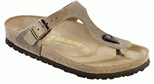 Birkenstock Women'S Gizeh Cork Footbed Thong Sandal Tobacco 37 M Eu front-822958