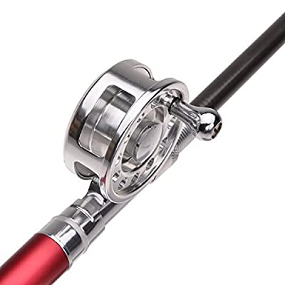 KINGMAK Fishing Rod Pen with Fly Reel Aluminum Alloy Extended 38 inch