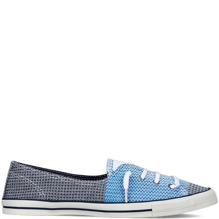 Converse Women's Chuck Taylor Fancy Knotted Laced Navy/Light Blue Slip-On Shoes (07.5)