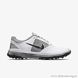 Nike Golf women\'s FI Impact Golf Shoe, White/Grey/Black, 8 B(M) US