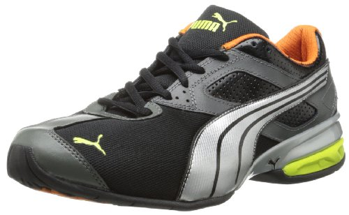 PUMA Men s Tazon 5 Cross Training Shoe Black Shadow Silver Lime 14 D ... d48b4c469