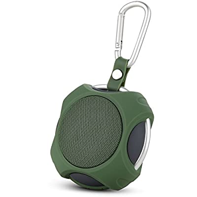 ZENBRE NFC Wireless Outdoor Speakers, Portable Bluetooth 4.0 Speaker with Powerful Surround Sound and Bass, Travel/Sport/Hiking/Camping Speakers with 1000mAh Rechargeable Battery, Handsfree Mic, Bicycle/Bike/Shower Speakers for iPhone 6/iPad/iPod, Blackbe