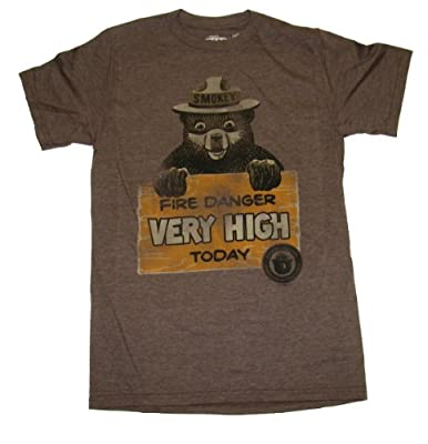 Smokey The Bear Fire Danger Very High Today Mens T-shirt
