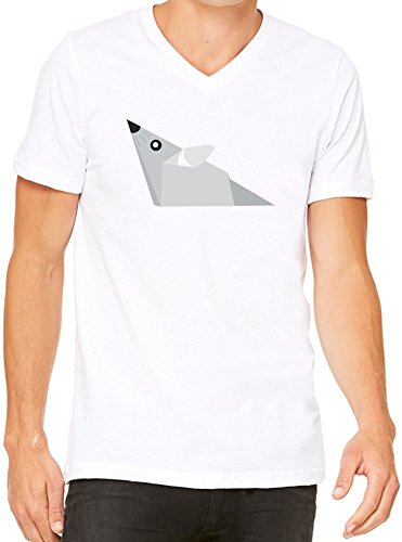 Origami Mouse T-Shirt V-Collo Donne XX-Large
