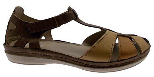Scarpa sandalo donna ballerina art 019000 multicolor cuoio 37 marrone