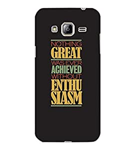 SAMSUNG GALAXY J3 2016 NOTHING GREAT Back Cover by PRINTSWAG