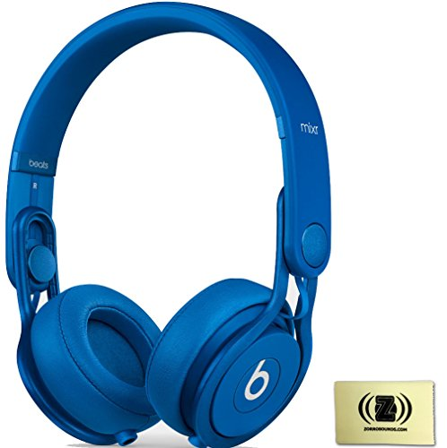 Beats By Dr. Dre Blue Mixr On-Ear Dj Headphones Bundle With Zorro Sounds Cleaning Cloth