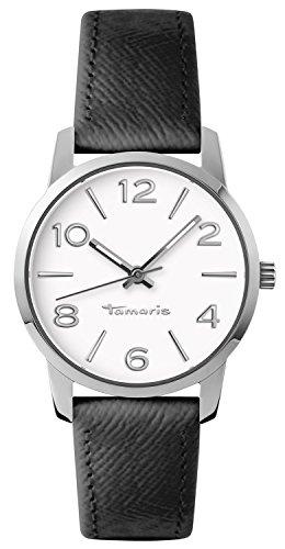 Tamaris - B10010010 - Montre Femme - Quartz - Analogique - Aiguilles lumineuses - Bracelet cuir noir