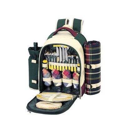 Find Cheap Sutherland Baskets SPB3065A1R Stonington Farms Picnic Backpack for 4
