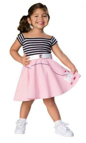 50S Girl Toddler Costume - Toddler Halloween Costume