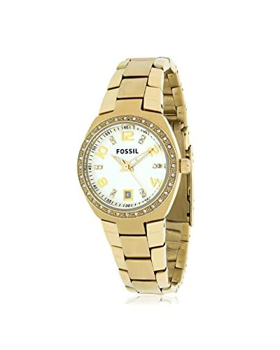 Fossil Women's AM4557 Serena Crystal-Accented Gold-Tone Stainless Steel Watch