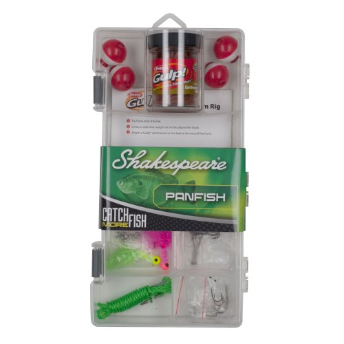 Shakespeare Catch More Fish Panfish Tackle Box Kit
