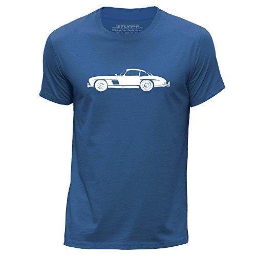 stuff4-herren-mittel-m-konigsblau-rundhals-t-shirt-schablone-auto-kunst-300-sl-w198