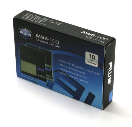 AWS Digital Pocket Scale Black