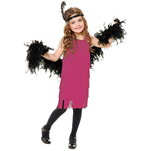 Pink Fashion Flapper Girl Kids Costume