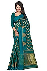 Fabcart Rama Banarasi Silk Saree with Blouse Piece
