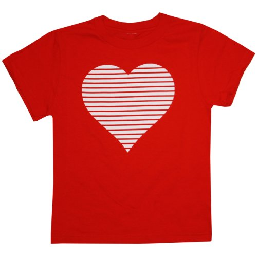 Happy Family Clothig Little Boys' Kid's Retro Stripes Valentine Heart T-Shirt