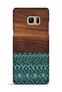 Cover Affair Wood / Aztec Printed Back Cover Case for Samsung Galaxy Note 7
