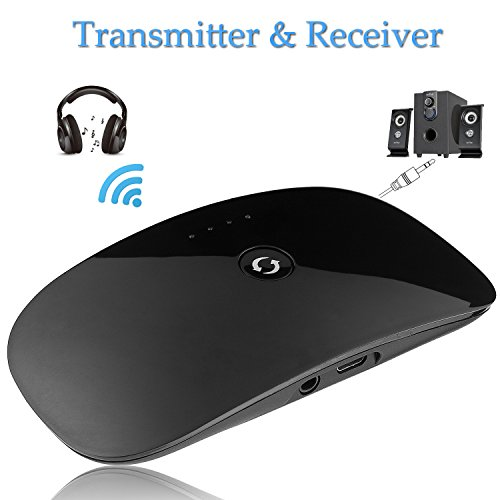 Bluetooth Audio Transmitter / Receiver, AIRWALKS Portable 2-In-1 Wireless 3.5mm Audio Adapter,  For Home / Car Sound System, Headphones, Speakers, TV, iPod, iPhone, Tablets (Slide Fire Systems compare prices)