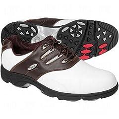Buy Etonic G>SOK Sof-Flex Golf Shoes White Dk Brown 9M *** by Etonic