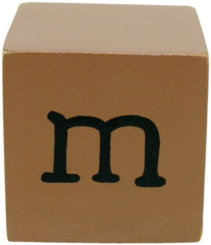 New Arrivals Letter Block M, Chocolate/White