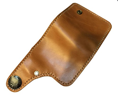 D'SHARK Men's Biker Genuine Leather Luxury Bi-fold Wallet with Chain (Brown) 3