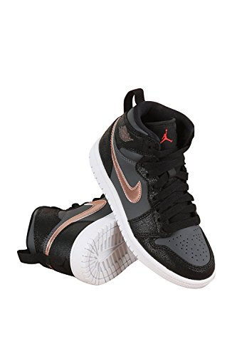 Jordan Little Kids AJ 1 High 3 Black/Mettalic Red Bronze/Dark Grey/White (Aj 1 Black compare prices)