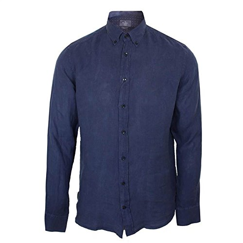 Hackett Camicia da uomo Navy Slim Fit a maniche lunghe Design Navy XX-Large