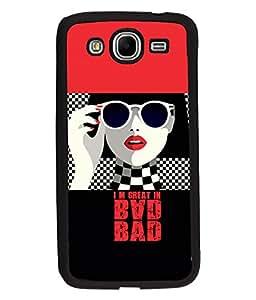 Fuson Bad Girl Back Case Cover for SAMSUNG GALAXY MEGA 5.8 - D3890