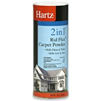 Hartz 2 in 1 Rid Flea Carpet Powder, 16 Ounce