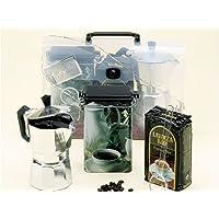 Espresso Pot Gift Pack (no coffee )includes 3 cup espresso maker & storage tin.