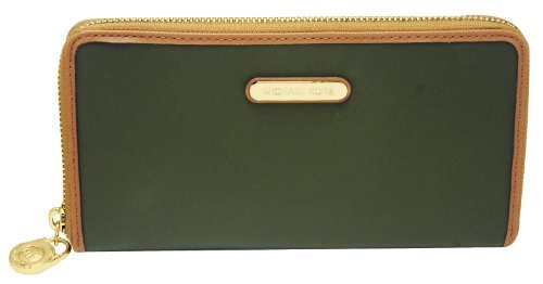 Michael Kors Kempton Loden Green Za Continental Nylon Wallet 32S3Gkpe1C New