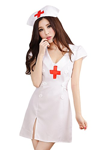 AvaCostume Sexy Babydoll Nurse Lingerie Role Play Costume