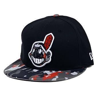 Cleveland Indians New Era Camo Break Strapback Adjustable Hat by New Era
